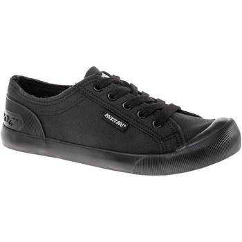 Rocket Dog JAZZINFA-BLACK-3 Jazzin Canvas Fable women's Shoes (Trainers) in Black. Sizes available:3,4,5,6,7