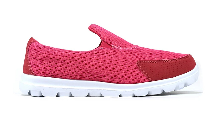 Slip-On Breathable Canvas Trainers - 4 Colours & 6 Sizes