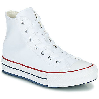 Converse CHUCK TAYLOR ALL STAR EVA LIFT CANVAS COLOR HI girls's Children's Shoes (High-top Trainers) in White. Sizes available:9.5 toddler,10 kid,11 kid,11.5 kid,12 kid,13 kid