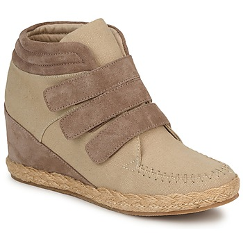 No Name SPLEEN STRAPS women's Shoes (High-top Trainers) in Beige. Sizes available:5.5,6.5