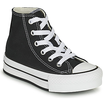 Converse CHUCK TAYLOR ALL STAR EVA LIFT CANVAS COLOR HI girls's Children's Shoes (High-top Trainers) in Black. Sizes available:11 kid,11.5 kid,10 kid,10.5 kid,11.5 kid,13.5 kid
