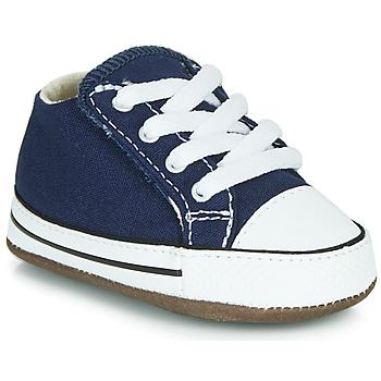 Converse CHUCK TAYLOR FIRST STAR CANVAS HI girls's Children's Shoes (High-top Trainers) in Blue. Sizes available:1.5 toddler,2 toddler,3 toddler,4 toddler
