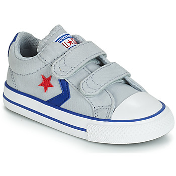Converse STAR PLAYER 2V CANVAS OX boys's Children's Shoes (Trainers) in Grey. Sizes available:4 toddler,5.5 toddler,6 toddler