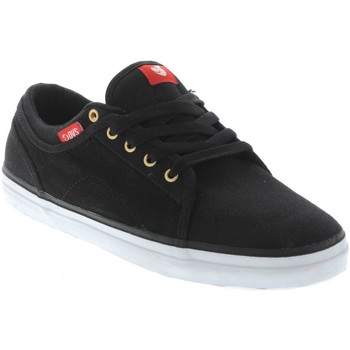 DVS Black Red Canvas Aversa Shoe men's Shoes (Trainers) in Black. Sizes available:4