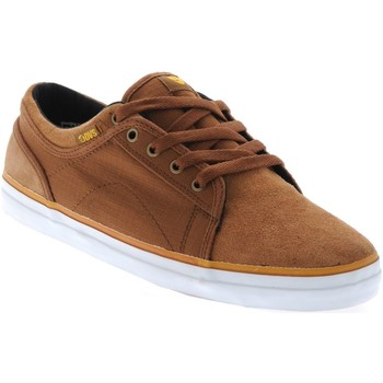 DVS Brown Canvas Rip Stop Aversa Shoe men's Shoes (Trainers) in Brown. Sizes available:4