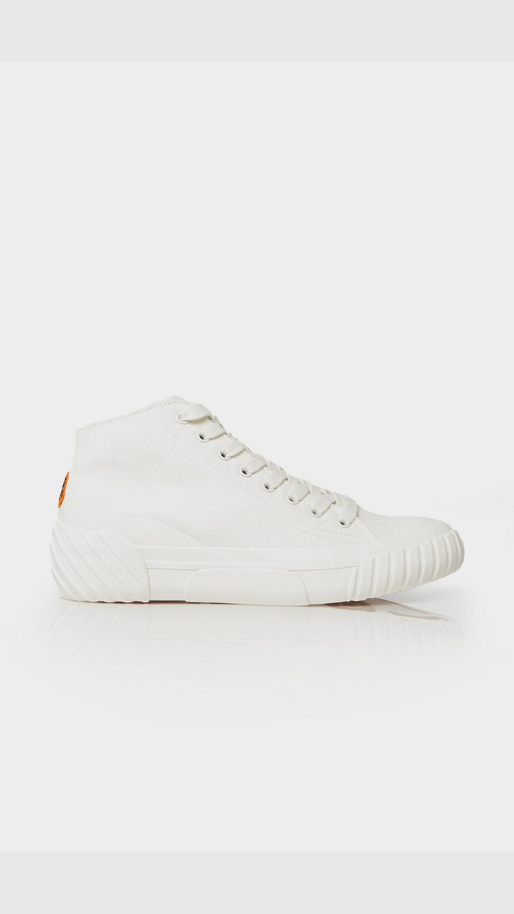 KENZO Tiger Crest High Top Trainer - White - Womens, White