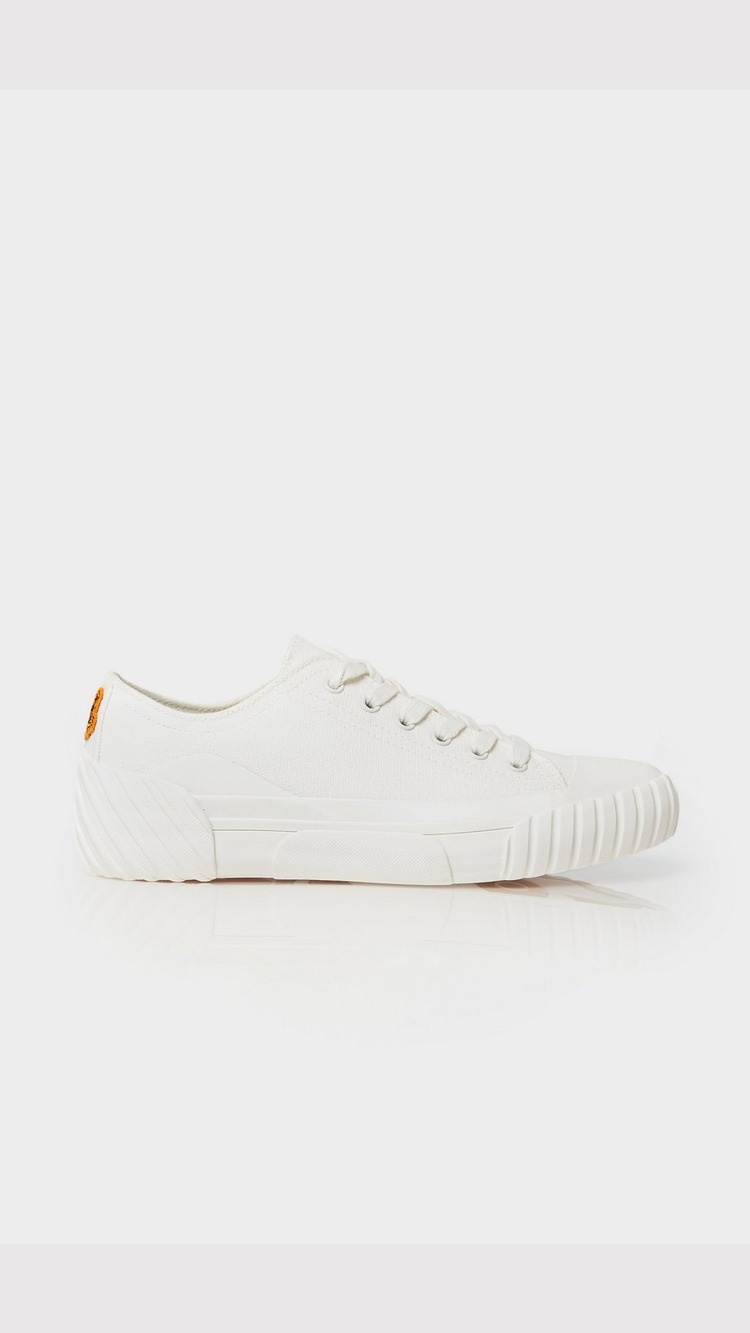 KENZO Tiger Crest Low Top Trainer - White - Womens, White